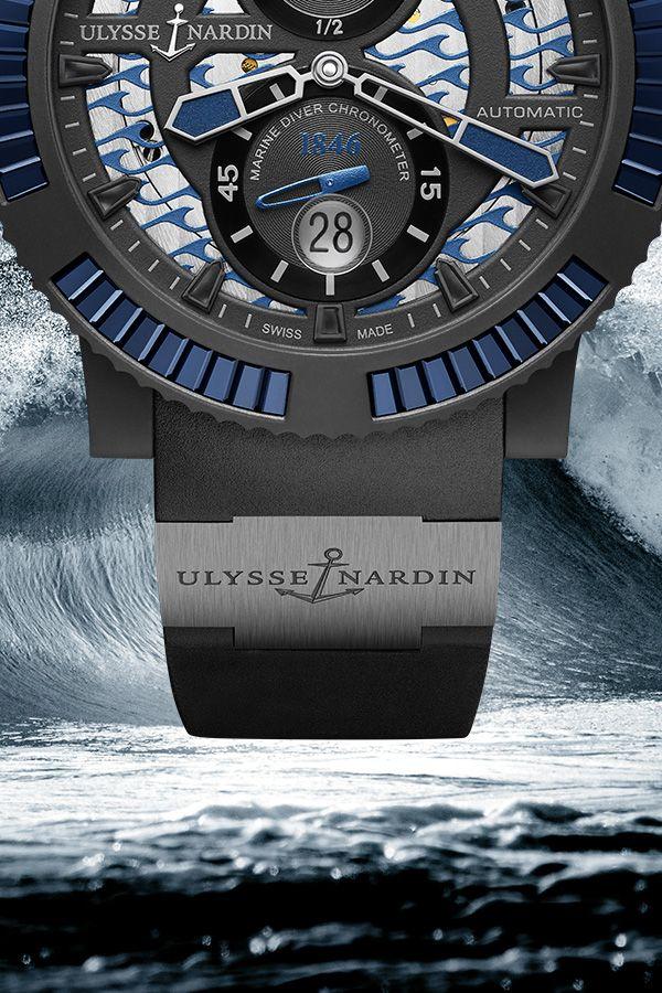 Ulysse Nardin Diver Black Sea. Embracing the rich seafaring heritage of Ulysse Nardin, the Diver line brings together the best of the brand's ocean-faring timepieces. #UlysseNardin #Diver #BlackSea
