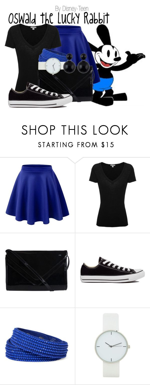 """Oswald the Lucky Rabbit"" by disney-teen ❤ liked on Polyvore featuring LE3NO, James Perse, Pieces, Converse, Arizona, disney, disneybound, Oswald, disneyfashion and disneycharacter"