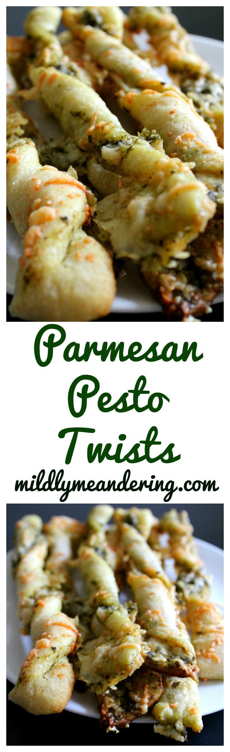 Parmesan Pesto Twists - Mildly Meandering