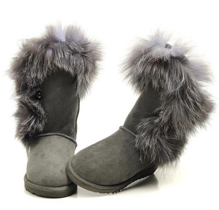 UGG Boots 5531 Foxfur Grey AAA