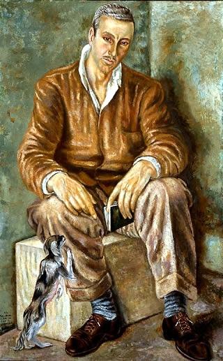 Soriano, Juan (1920-2006) - 1948 Portrait of Diego de Mesa with Dog
