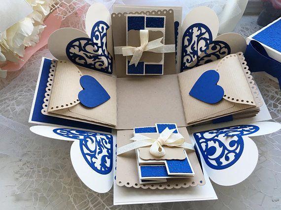 Explodierende Fotobox perfekt für Jubiläum oder Jubiläumsgeschenk, Vatertag …   – Geschenke Verpacken