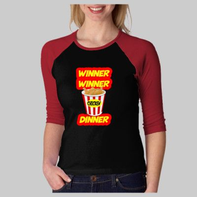 Winner, Winner, Chicken Dinner! You have all heard the catch cry, now you can get our loud and proud version in a wide range of garment styles and colors. See it here at http://novelprintsusa.com/shop?c=1283487&ctype=0&o=0&page=2 #funny #funny t-shirt #fashion