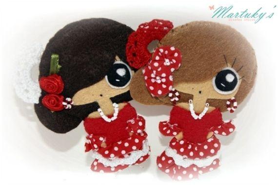 Martuky Gitana, Complementos, Broches, Miniaturas y muñecas, Figuras en miniatura, Fechas señaladas, Ferias: