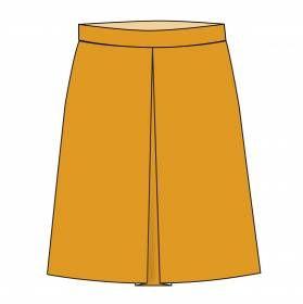 Tuto pour coudre une jupe trapèze plissée devant. Elle se ferme par un zip.