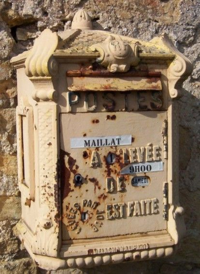 Charming Rustic French mail box