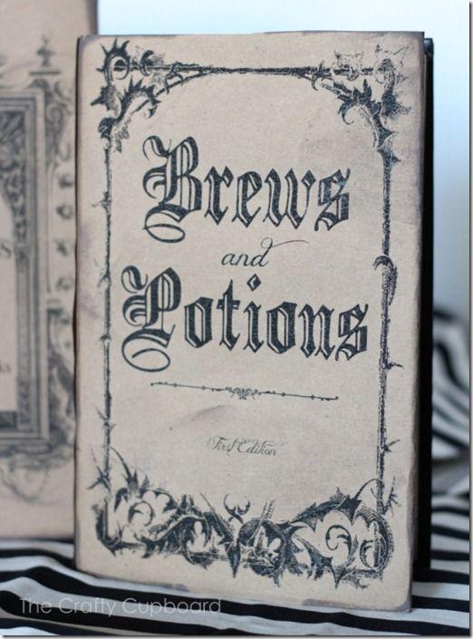 printable spooky book covers via Craftycupboard.net