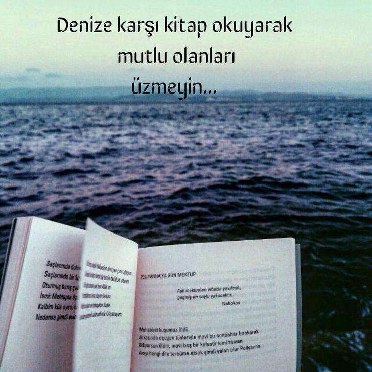 Denize karşı kitap okuyarak mutlu olanları üzmeyin...
