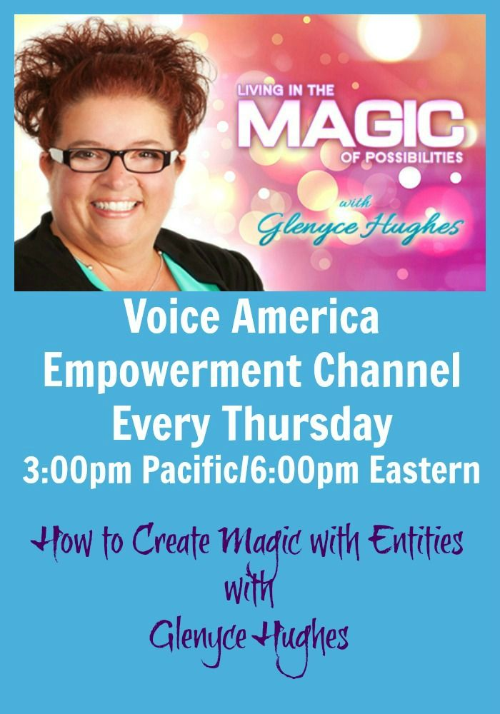 Businesses, books, songs, investments, art, classes and sessions are some of the various types of entities that have a consciousness of their own. I have worked with thousands of different entities in a way that has created magic and possibilities beyond what I ever imagined possible. Would you like to learn how do do this in your own life? Join me for easy steps to create magic with entities. http://www.voiceamerica.com/episode/72079/how-to-create-magic-with-entities