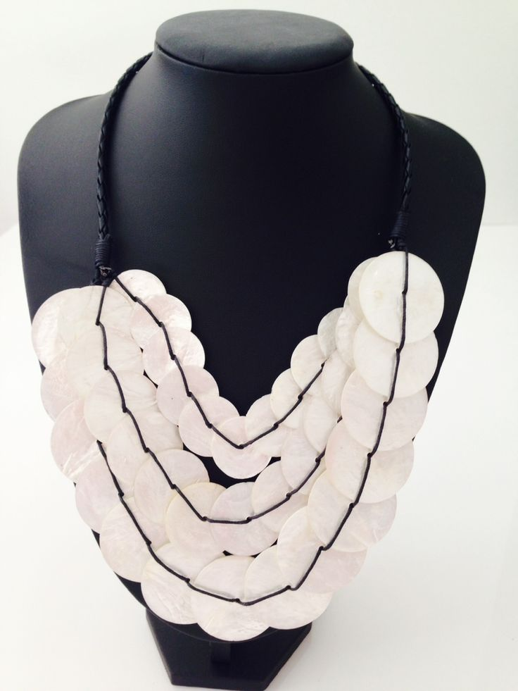 Beautiful white triple layer shell necklace $15, go to www.melikeshoes.com.au (We always do free shipping)