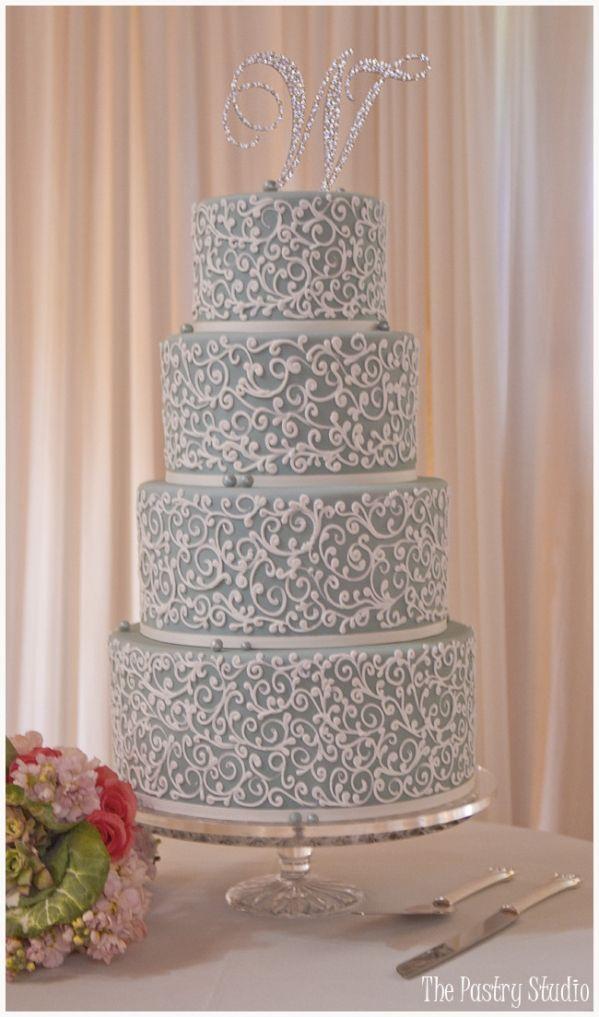 2013 PANTONE Grayed Jade Wedding Cake