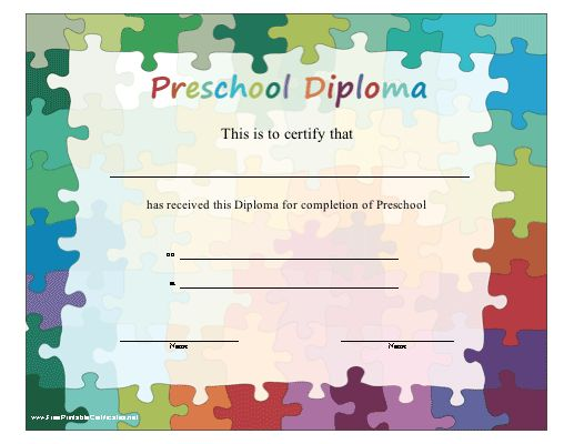16 best Preschool diploma images on Pinterest Graduation ideas - new preschool certificate templates free