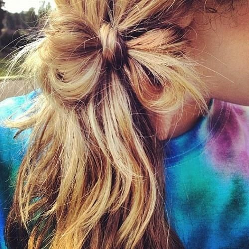 small side hair bow