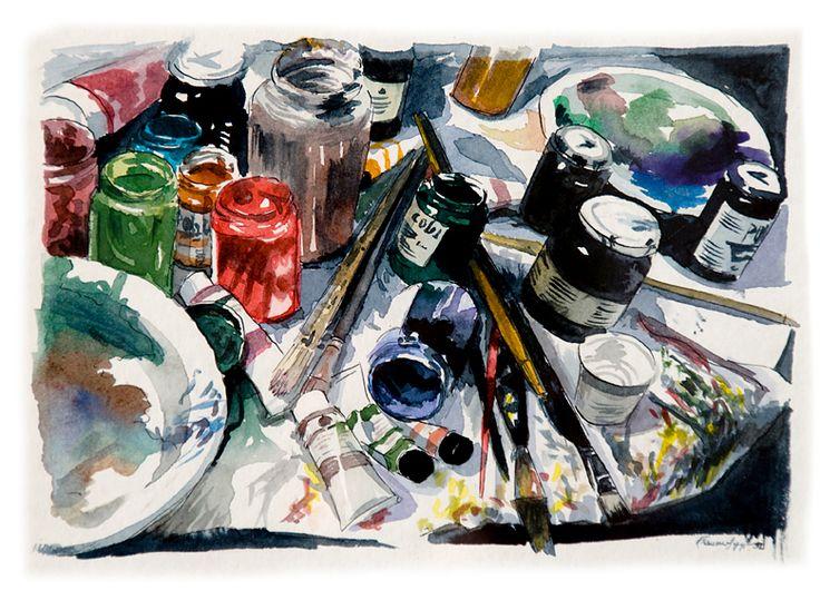 #watercolor #art #tcolors