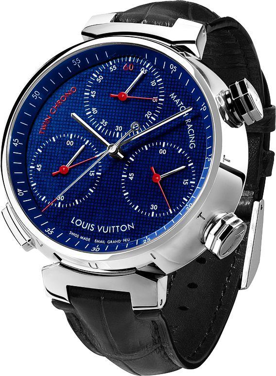 La Cote des Montres : La montre Louis Vuitton Tambour Twin Chrono - Une montre à complication inédite : un bi-chronographe monopoussoir à affichage différentiel