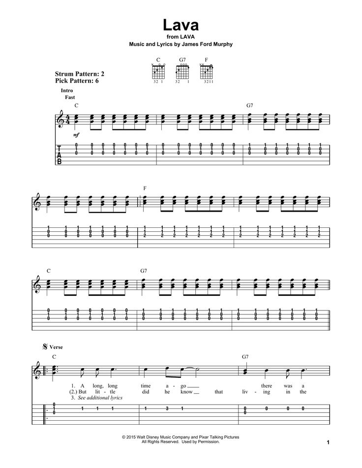 Lava by James Ford Murphy - Easy Guitar Tab - Guitar Instructor