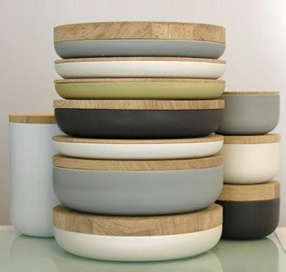 pottery by architect vincent van duysen for when objects work. clay vessels with wooden tops