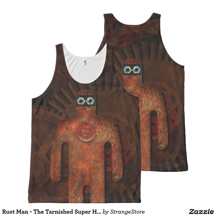Rust Man - The Tarnished Super Hero All Over Print Tank Top from #StrangeStore