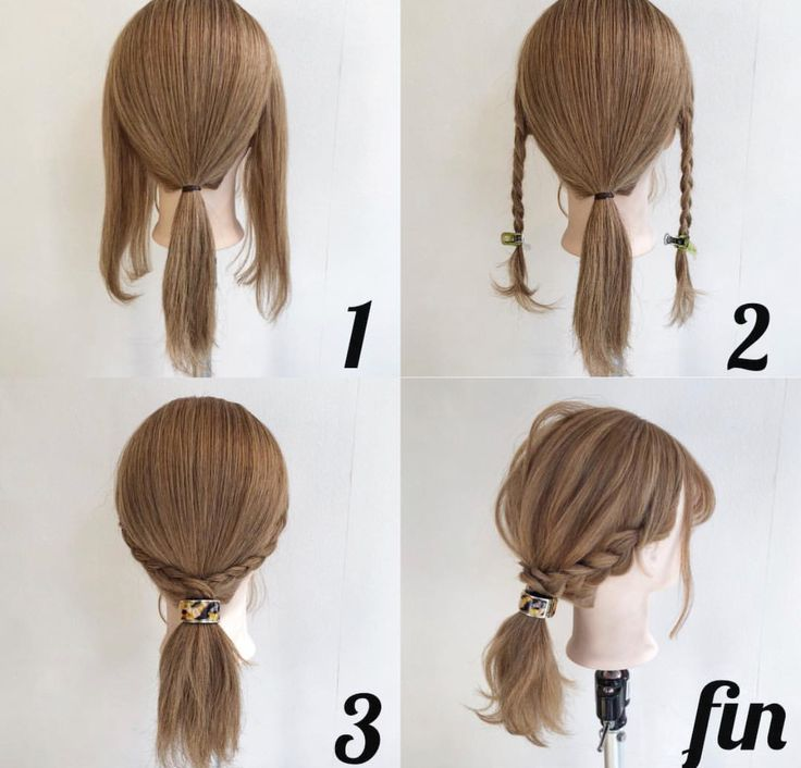 cute ponytail with side braids
