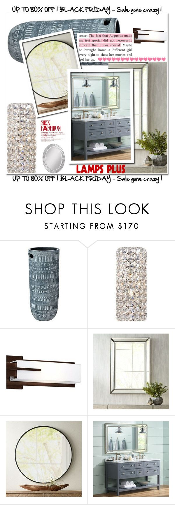 """""""Bathroom Designs with Lamps Plus"""" by enesarotic ❤ liked on Polyvore featuring Jamie Young, Possini Euro Design, Noble Park and bathroom"""