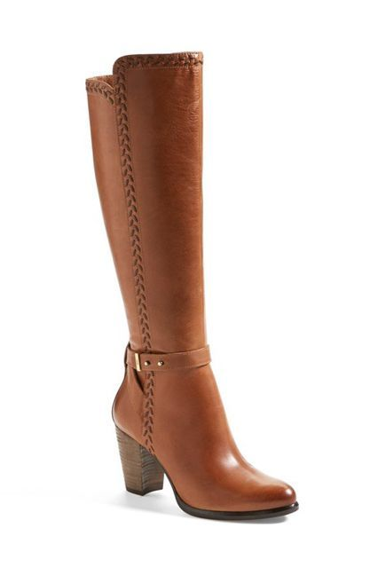 Knee-High Heeled Boot Ugg comfort, in stunner form.  #refinery29 http://www.refinery29.com/brown-boots#slide-29
