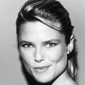 Cristie Brinkley 1982. In the peak of her modeling career this fresh faced celebrity looks young and bright eyed.