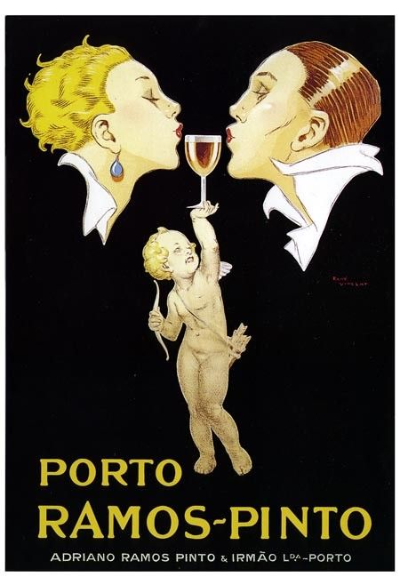 Early 1900s French Port Wine Liquor Advertising Poster