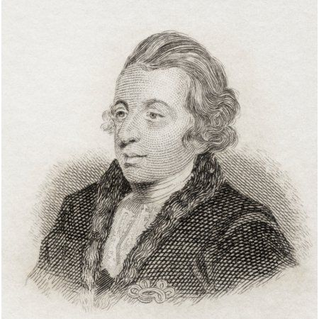 George Colman The Elder 1732 To 1794 English Dramatist And Essayist From Crabbs Historical Dictionary Published 1825 Canvas Art - Ken Welsh Design Pics (24 x 24)