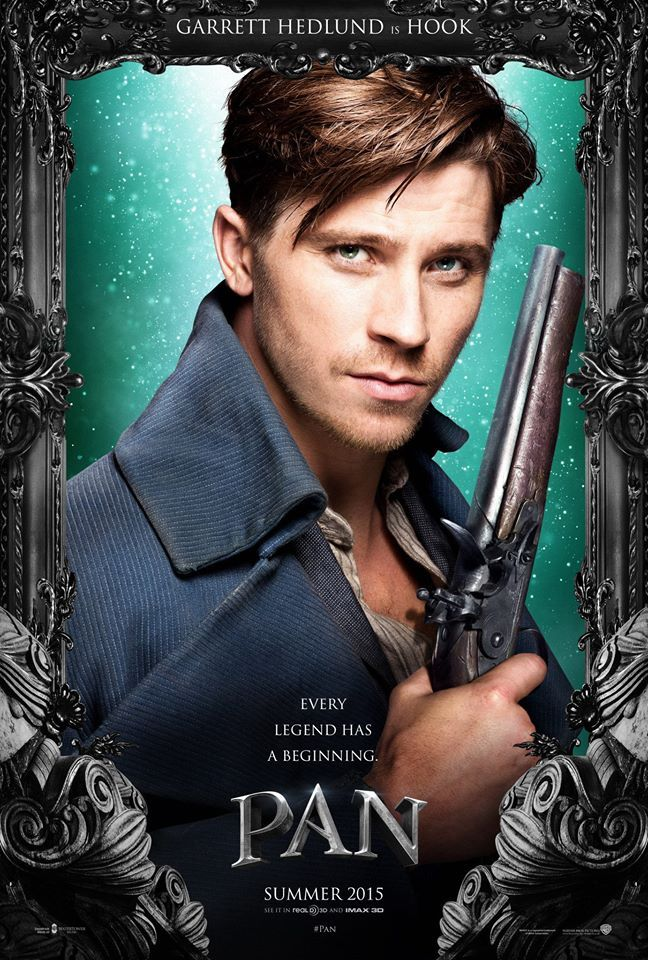 See Pan Movie Posters Featuring Hugh Jackman, Garrett Hedlund + More image Pan 2015 Poster Garrett Hedlund Hook