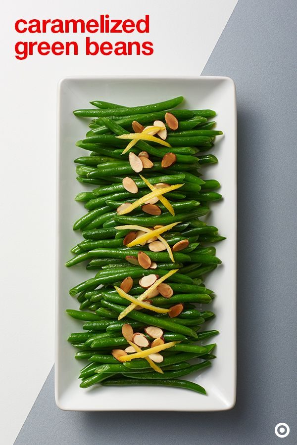 Green beans go! Add some green to your spread with this caramelized green bean recipe. They're super simple, super delicious and can be ready in under 30 minutes. Garnish them with toasted almonds and lemon zest for even more yumminess.