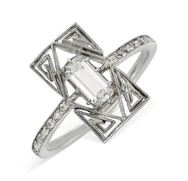 A Diamond and Platinum Ring, by Lalique, circa 1910 -
