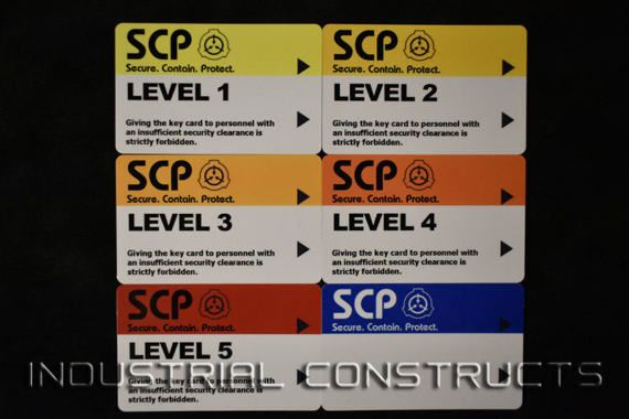 Scp Foundation Secure Access Id Cards Containment Breach Etsy In 2021 Scp Security Foundation