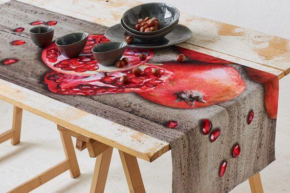 Tischläufer mit Granatapfel von Apelt, Artiekl 7919