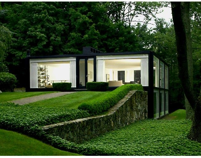 Augustus Mino's glass house inspired by Philip Johnson's, designed by Robert Fitzpatrick Architect, 1967.