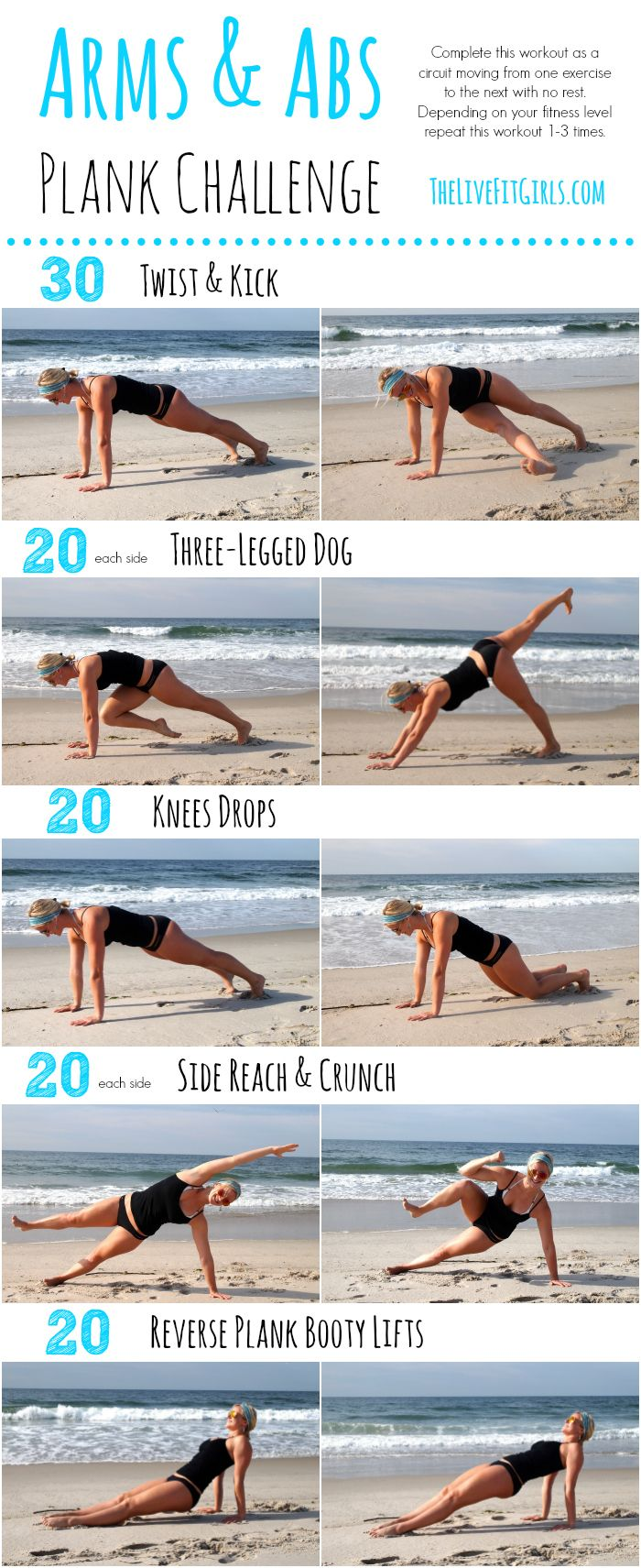 Arms and Abs Plank Workout - no equipment needed!