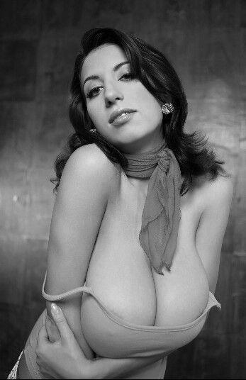 Jana Defi -  seductive pose in neckerchief