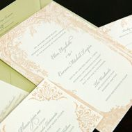Meadow letterpress wedding invitation suite from Designers Fine Press Weddings 2. Customize yours with Paper Passionista.