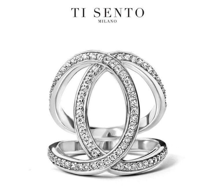 Love this new Ti Sento Ring 1955ZI...looks like two rings overlapping / #LoveTiSento