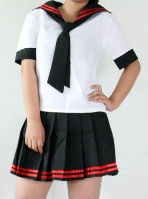 Black And White Japanese School Uniform