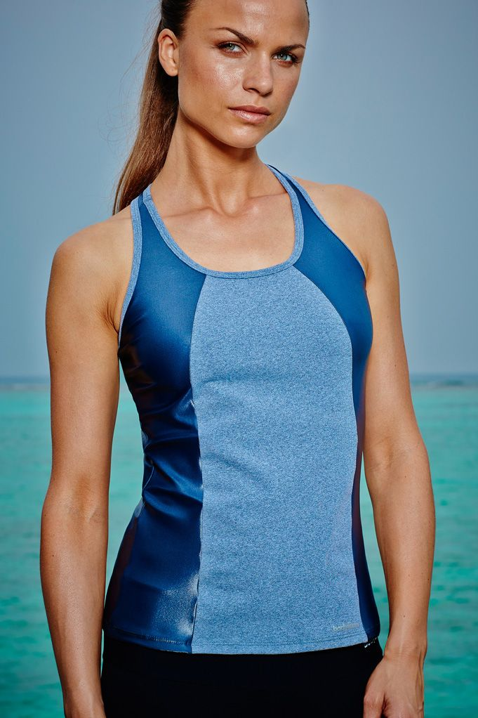 I Am Shiny Top Available in Grey or Black This scoop neck, slim-fit vest in quick- drying, sweat-wicking fabric, is ideal for any workout. Featuring wider straps for added support, and our shiny fabric panels down the sides, this top sculpts your figure. It also features a tapered waist so that it stays put during exercise.  Available now, £60.00 at http://www.bodyism.com/product/i-am-shiny-top/