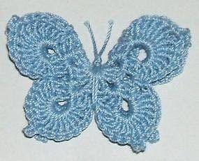 3-D Crochet Butterfly