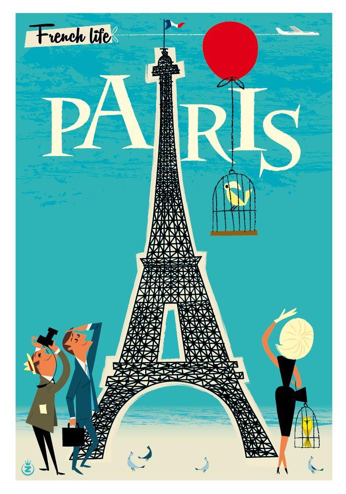 покупать плакат ретро франция воплощение этой идеи