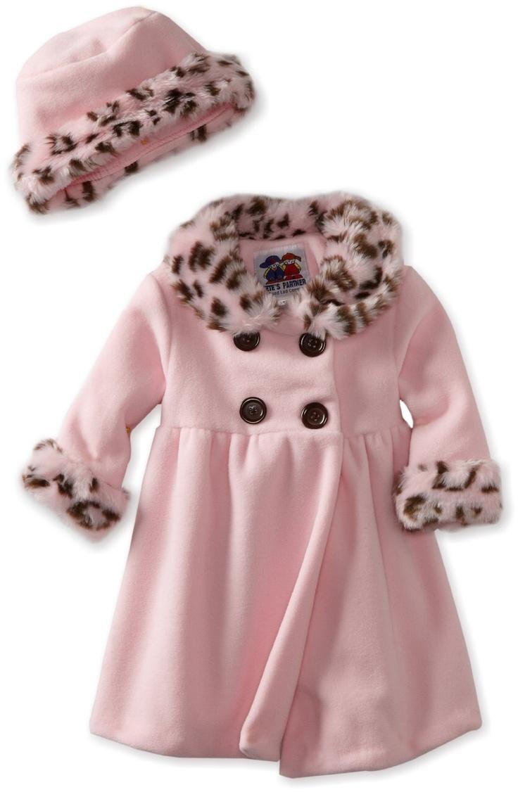 Good Lad Baby Girls Infant Animal Trim Coat Baby Girl