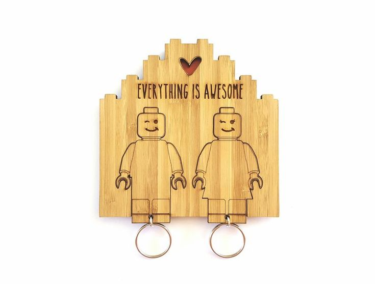Lego His & Hers key chain set by HALLO JANE