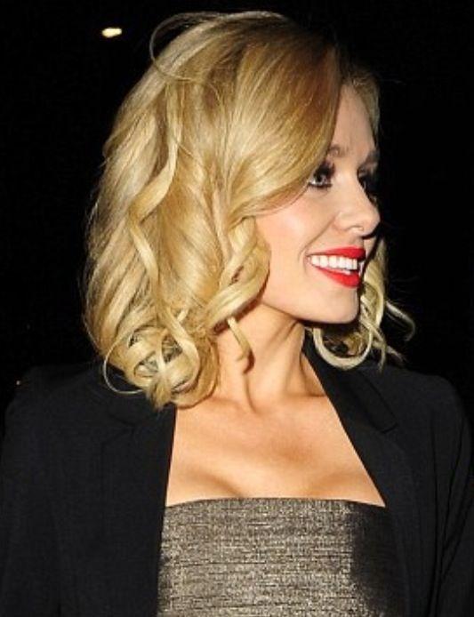 Curled bob hairstyle...elegance