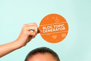 blog topic generator - enter keywords, and it'll give you 5 blog topics with great headlines