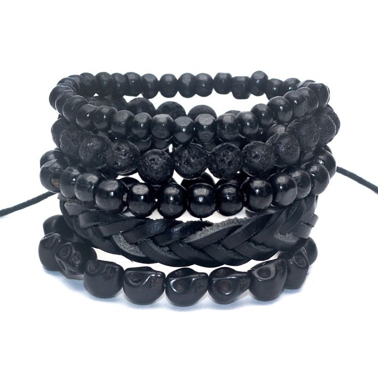 Bamboo wood Lava Stone Beads Bracelet //Price: $9.95 & FREE Shipping //     #gems