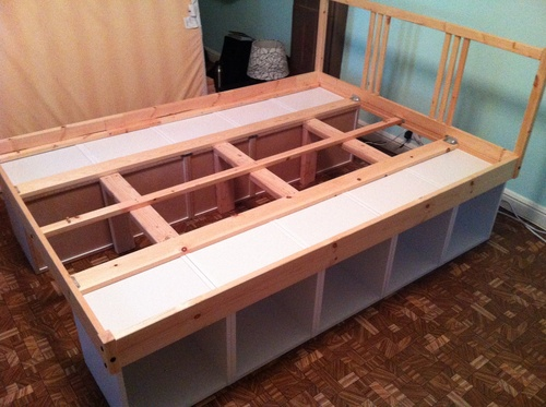 Ikea hack bed  45 best IKEA Hacks images on Pinterest | Beds with storage, Extra ...