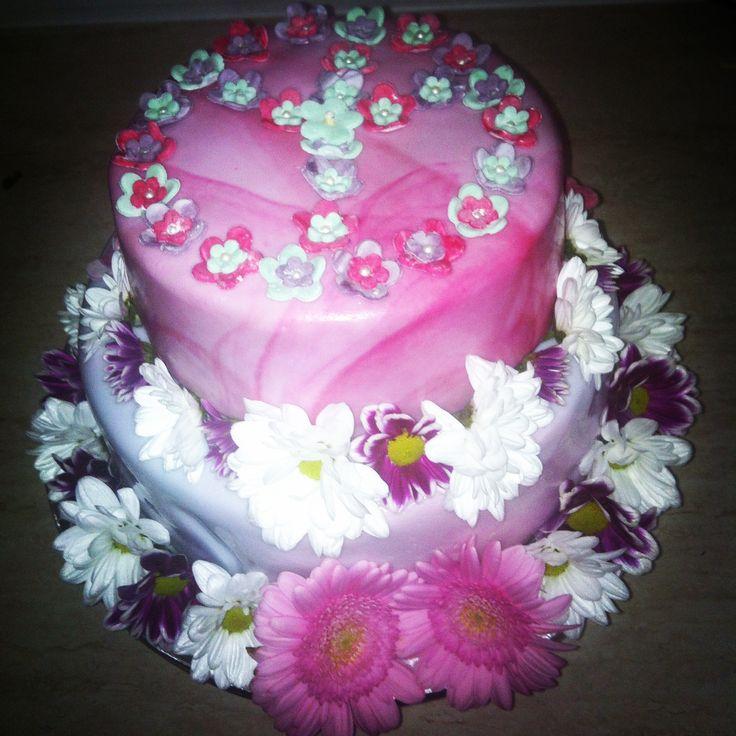 Flowerpower Flash cake