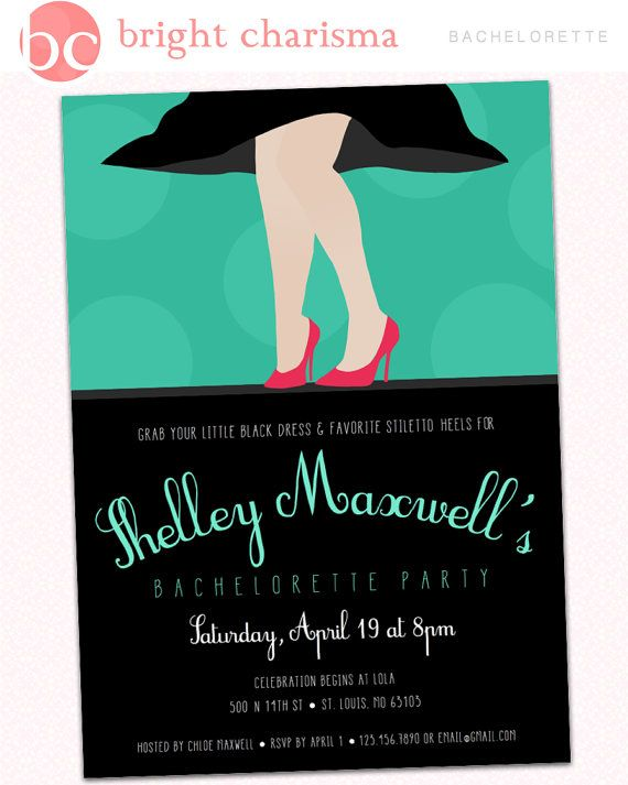 76 best Invitation Ideas images – Little Black Dress Bachelorette Party Invitations
